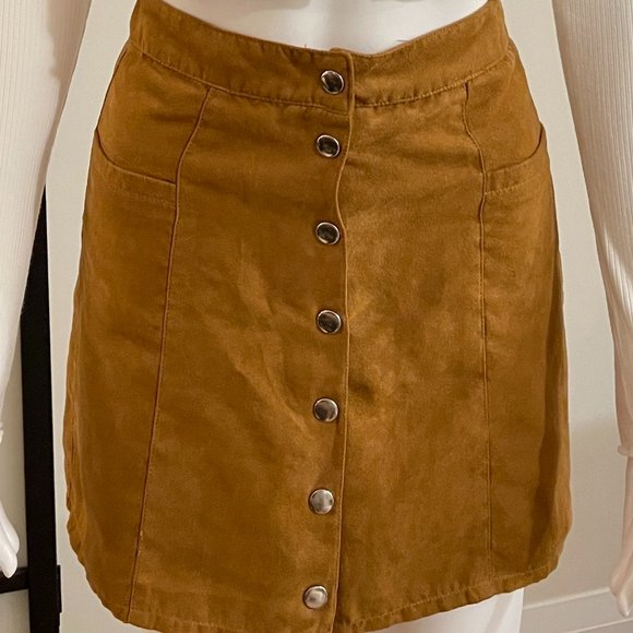 H&M Suede mini skirt size 2